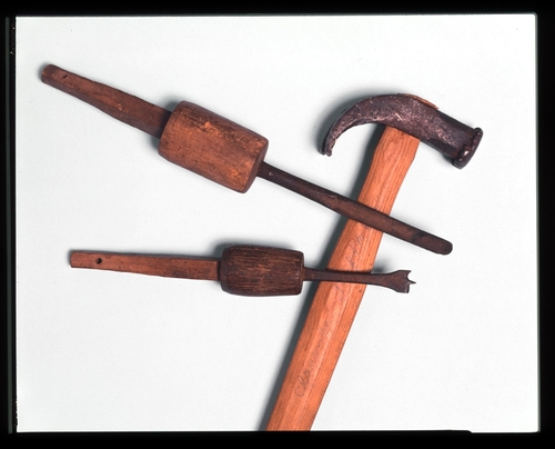 Hammer and wood-working tools attributed to Thomas Lincoln