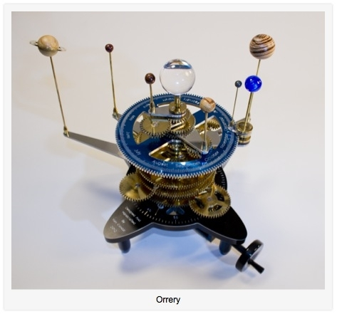 photo of finished orrery