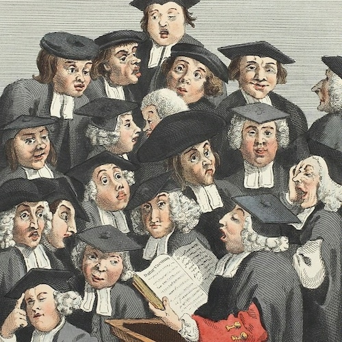 Scholars at a Lecture by William Hogarth