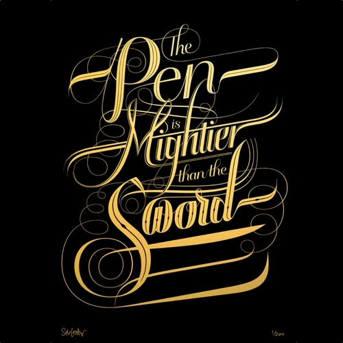 Seb Lester calligraphy