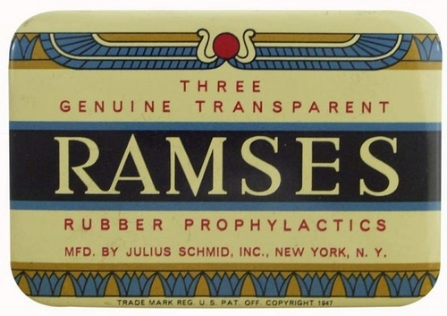 Ramses condom package design via cardhouse.com